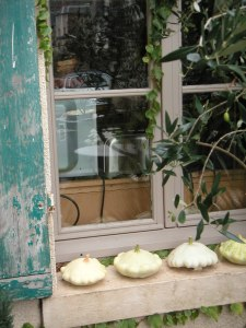 Squashes on the bedroom window sill, ready for midnight munchies